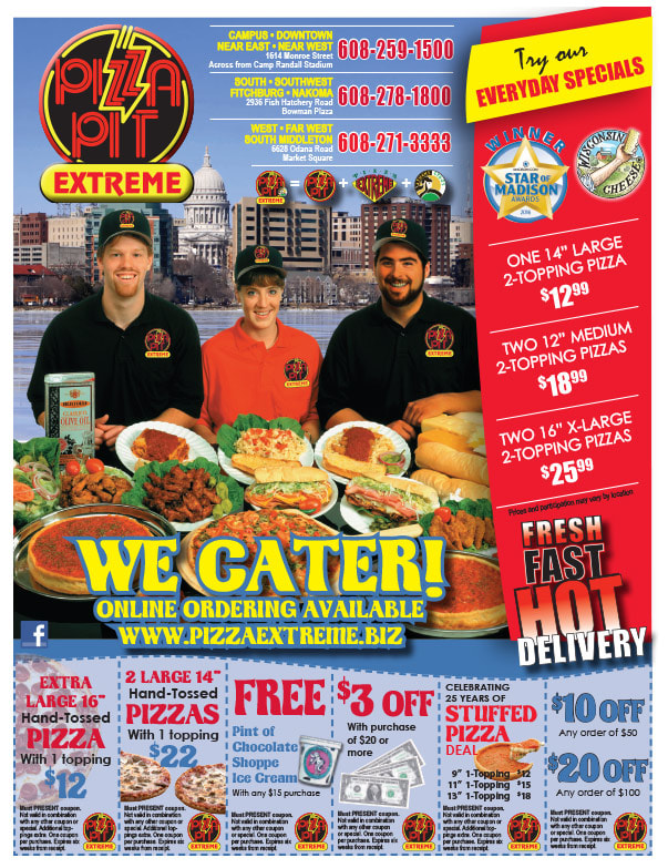 Pizza Pit Extreme We-Prints Plus Newspaper Insert by Any Door Marketing