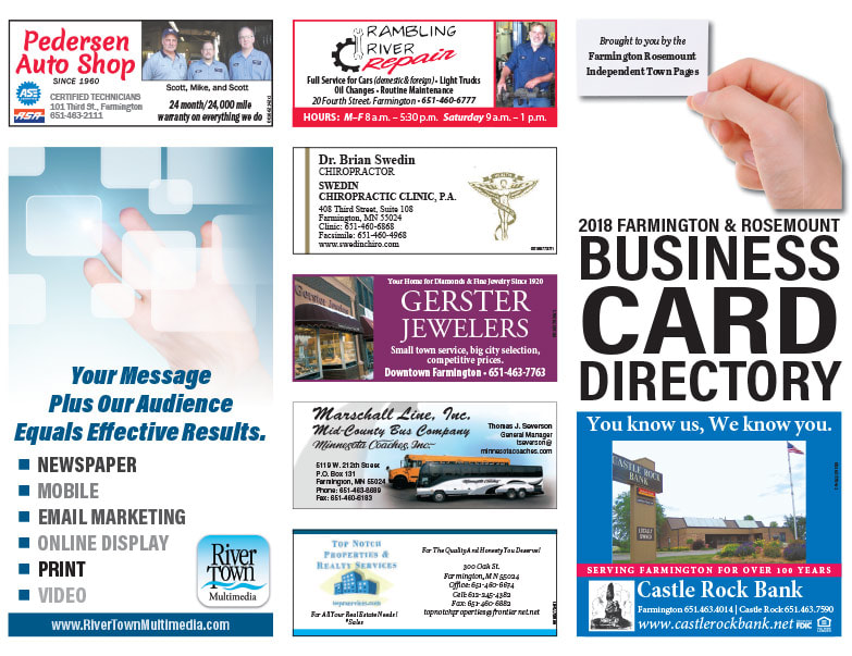 Farmington and Rosemount Business Card Directory We-Prints Plus Newspaper Insert printed by Any Door Marketing