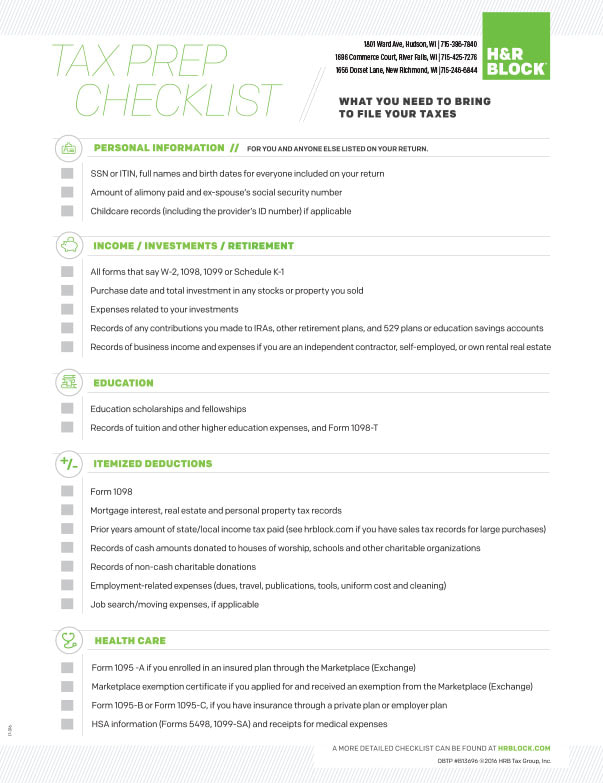 H and R Block We-Prints Plus Newspaper Insert printed by Any Door Marketing