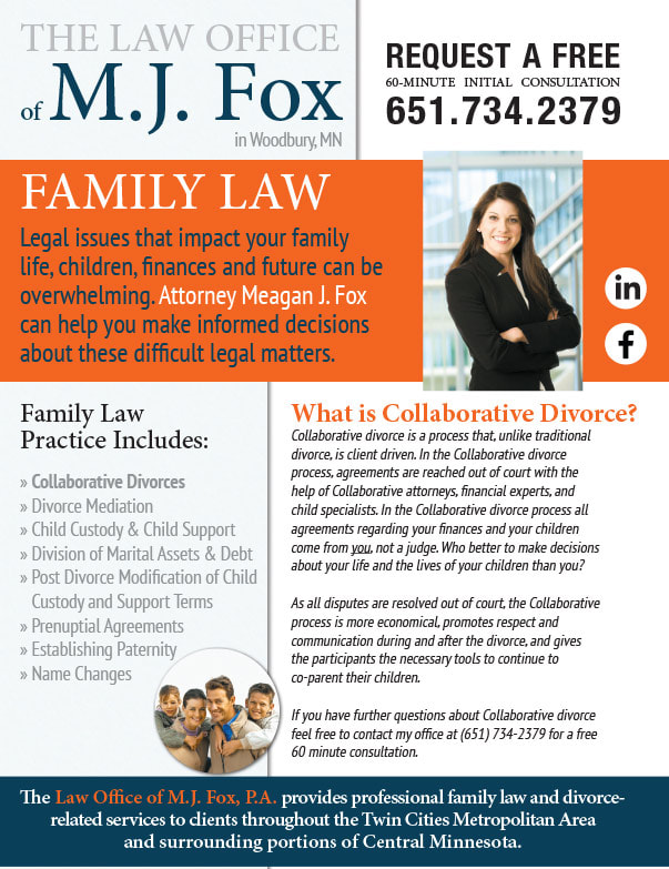 The Law Office of M.J. Fox We-Prints Newspaper Insert brought to you by Any Door Marketing