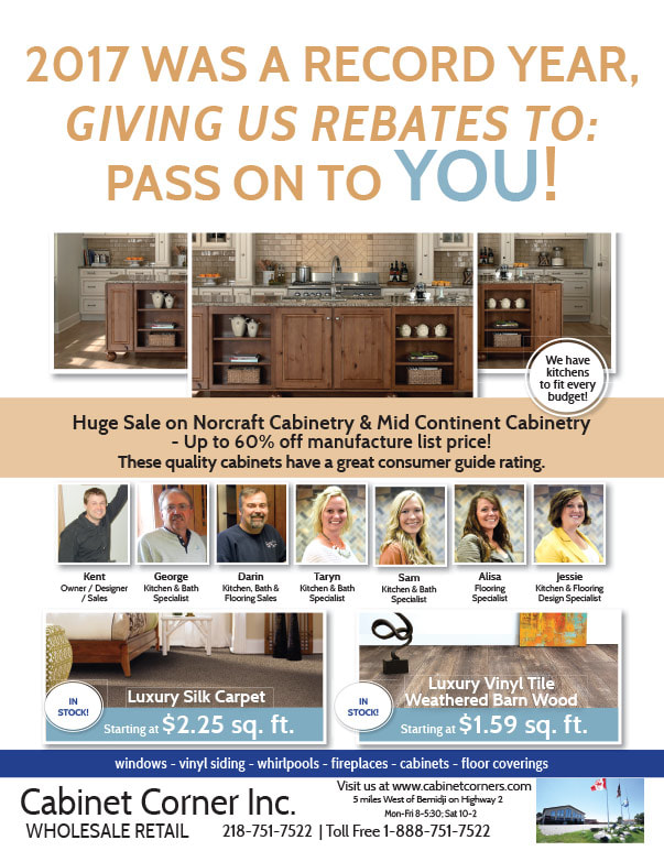 Cabinet Corner We-Prints Newspaper Insert brought to you by Any Door Marketing
