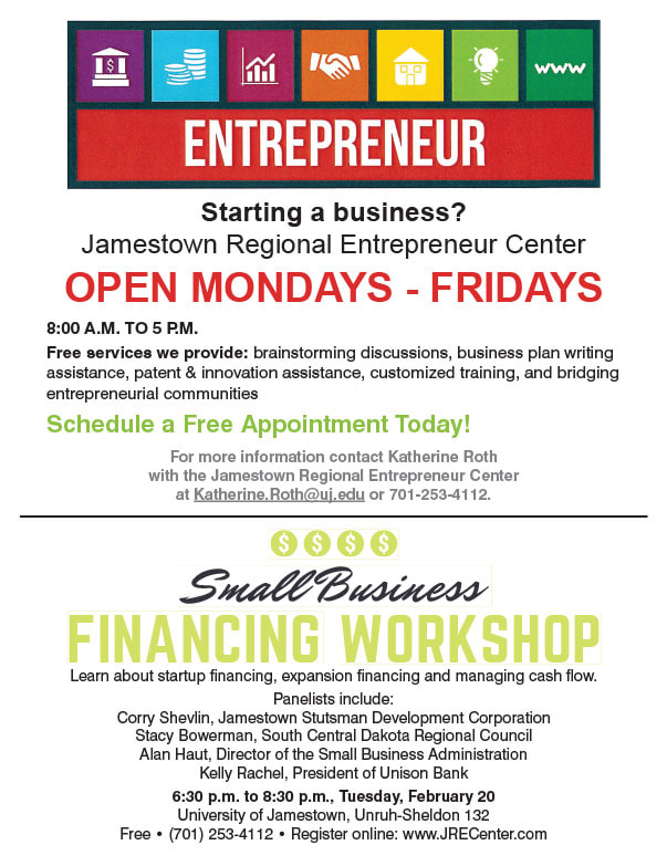 Jamestown Regional Entrepreneur Center We-Prints Newspaper Insert brought to you by Any Door Marketing