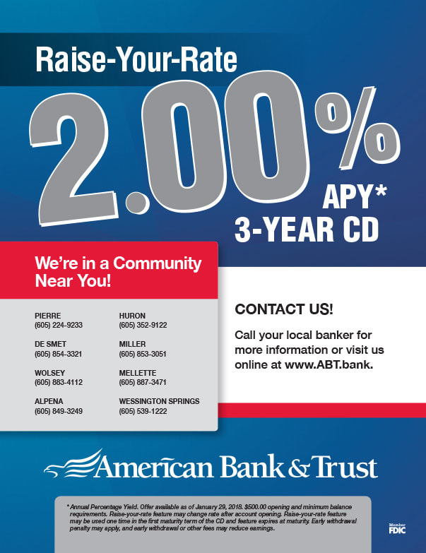 American Bank and Trust We-Prints Plus Newspaper Insert brought to you by Any Door Marketing