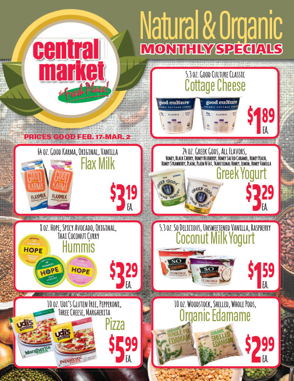 Central Market We-Prints Newspaper Insert brought to you by Any Door Marketing