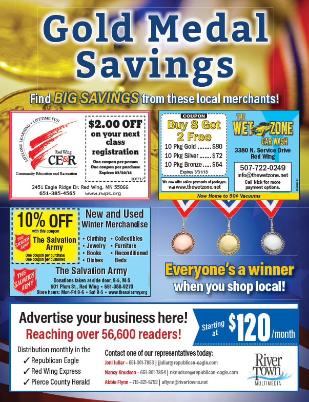 Red Wing MN Shop Local We-Prints Plus Newspaper Insert brought to you by Any Door Marketing