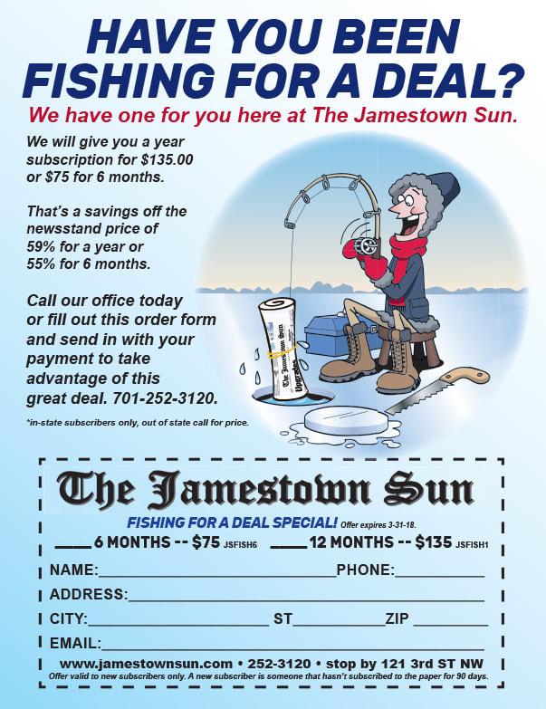 Jamestown Sun We-Prints Plus Newspaper Insert brought to you by Any Door Marketing