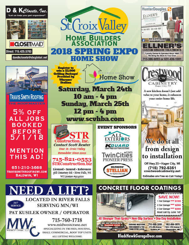 St. Croix Valley Spring Expo Home Show We-Prints Plus Newspaper Insert printed by Any Door Marketing
