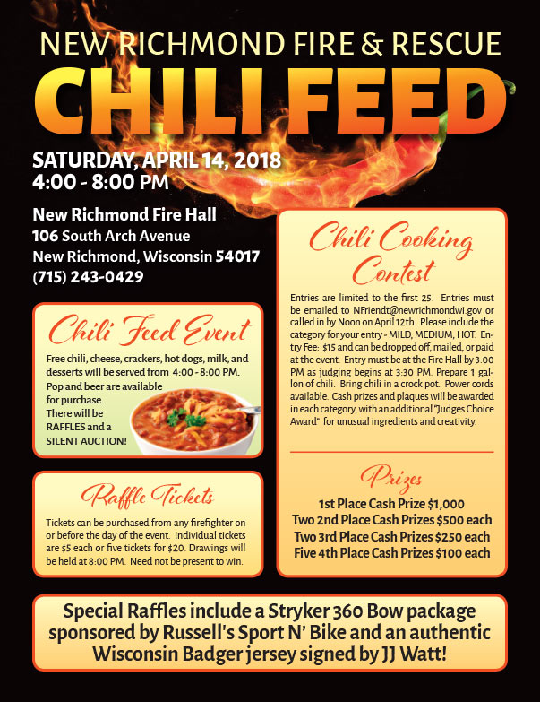 New Richmond Chili Feed We-Prints Plus Newspaper insert brought to you by Any Door Marketing