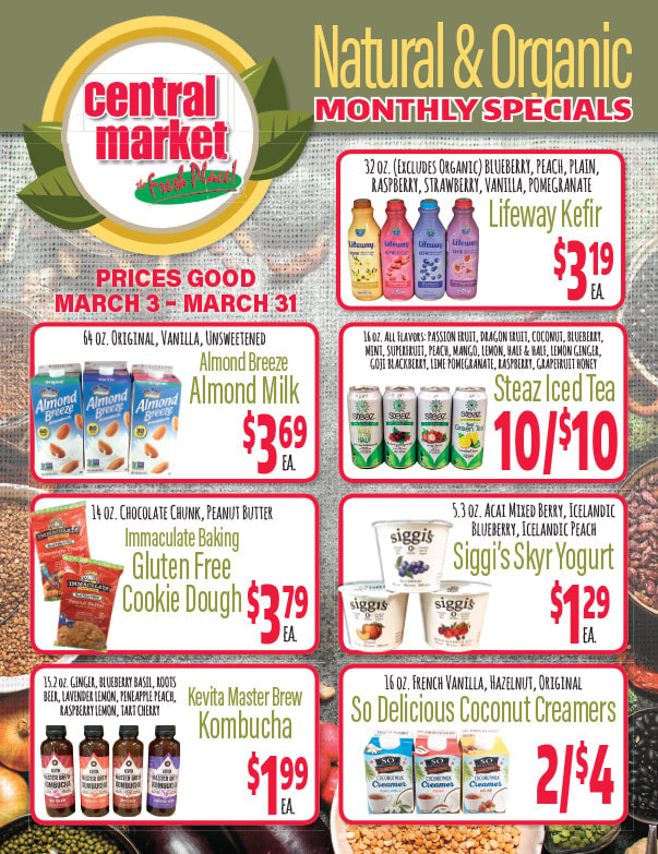 Central Market We-Prints Plus Newspaper Insert brought to you by Any Door Marketing