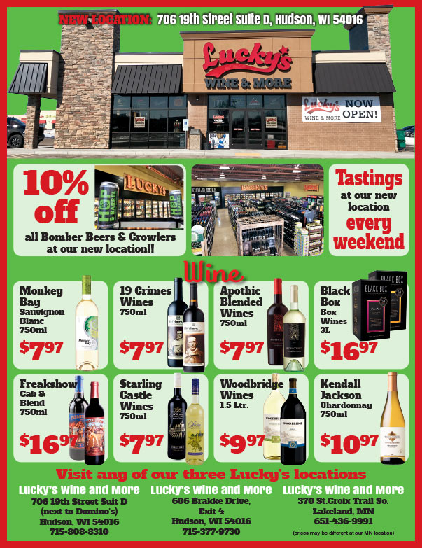 Lucky's Wine and More We-Prints Plus Newspaper Insert printed by Any Door Marketing