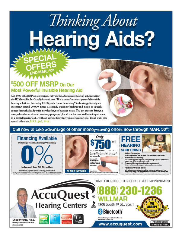 Accuquest Hearing Center We-Prints Plus Newspaper Insert printed by Any Door Marketing