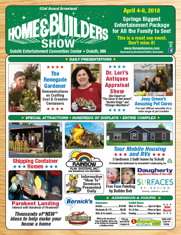 Duluth Home Builders Show We-Prints Plus Newspaper insert brought to you by Any Door Marketing