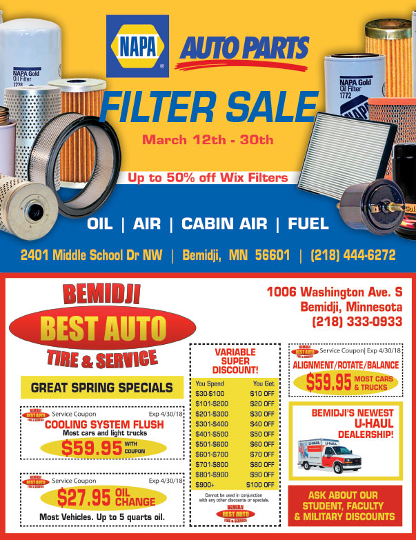 Napa Auto Parts We-Prints Plus Newspaper Insert printed by Any Door Marketing
