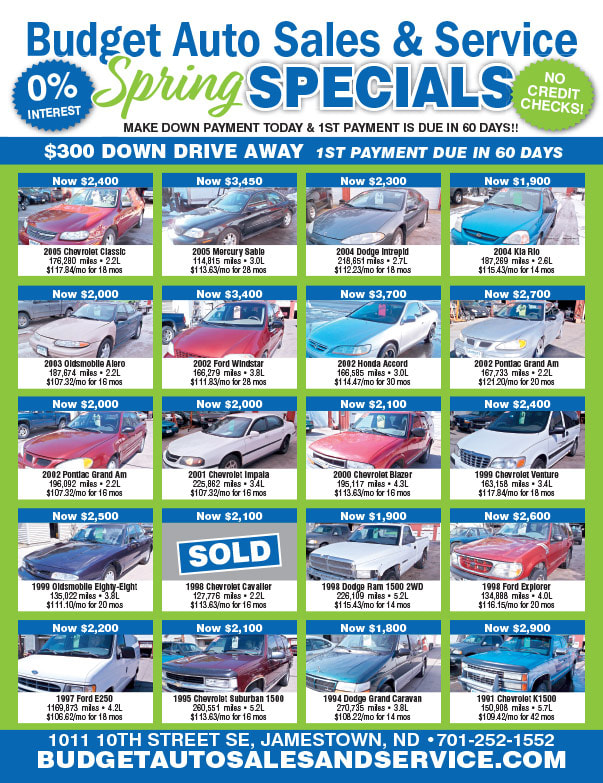 Budget Auto Sales We-Prints Plus Newspaper Insert brought to you by Any Door Marketing