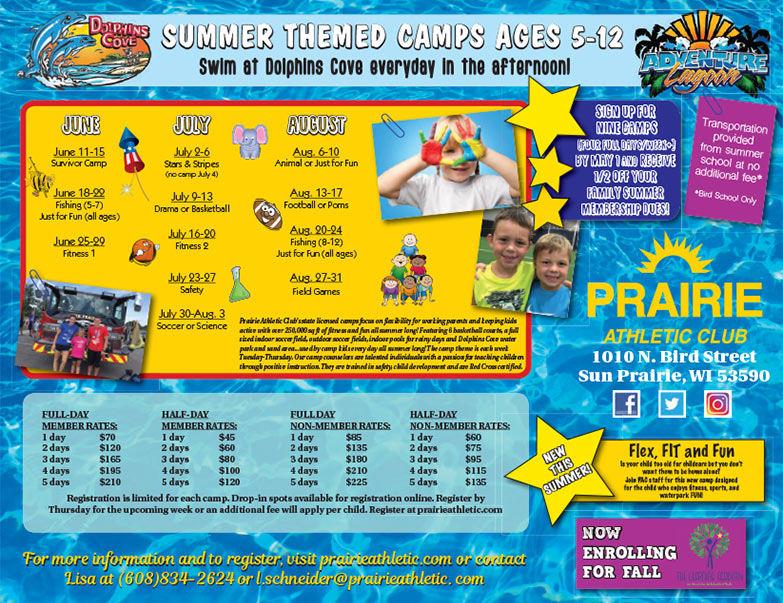 Adventure Lagoon We-Prints Plus Newspaper insert brought to you by Any Door Marketing