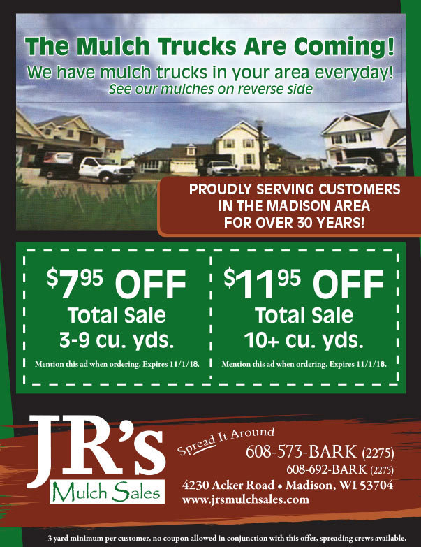 Jr's Mulch Sales We-Prints Plus Newspaper insert brought to you by Any Door Marketing