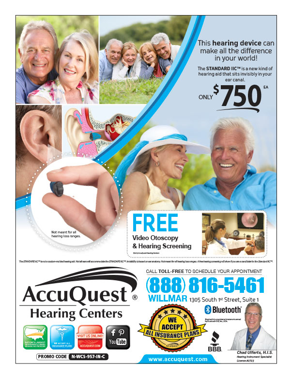 AccuQuest Hearing Centers We-Prints Plus Newspaper Insert brought to you by Any Door Marketing