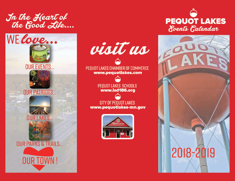 Pequot Lakes Calendar We-Prints Plus newspaper insert brought to you by Any Door Marketing