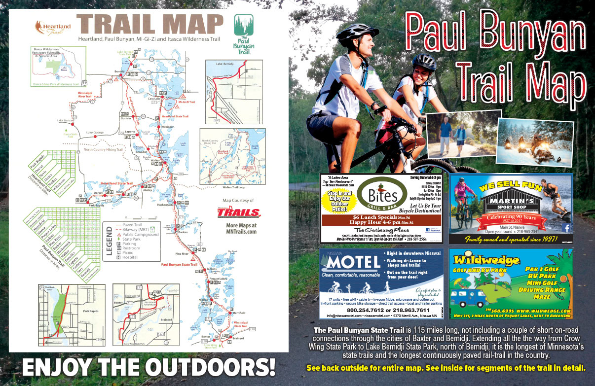 Paul Bunyan Trail Map We-Prints Plus newspaper insert brought to you by Any Door Marketing