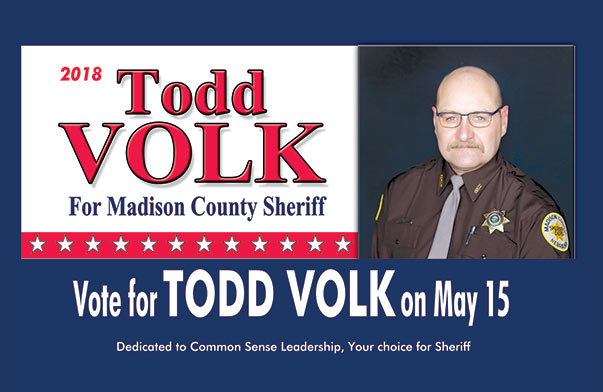 Todd Volk for Sheriff We-Prints Plus newspaper insert brought to you by Any Door Marketing