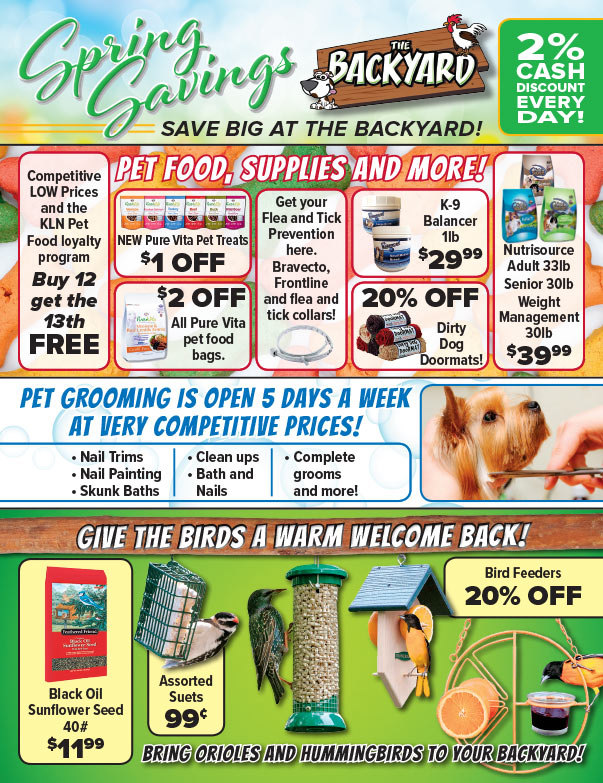 The Backyard We-Prints Plus Newspaper Insert brought to you by Any Door Marketing