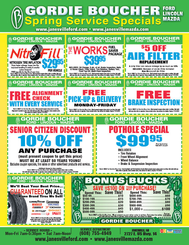 Gordie Boucher Ford Lincoln Mercury We-Prints Plus newspaper insert brought to you by Any Door Marketing