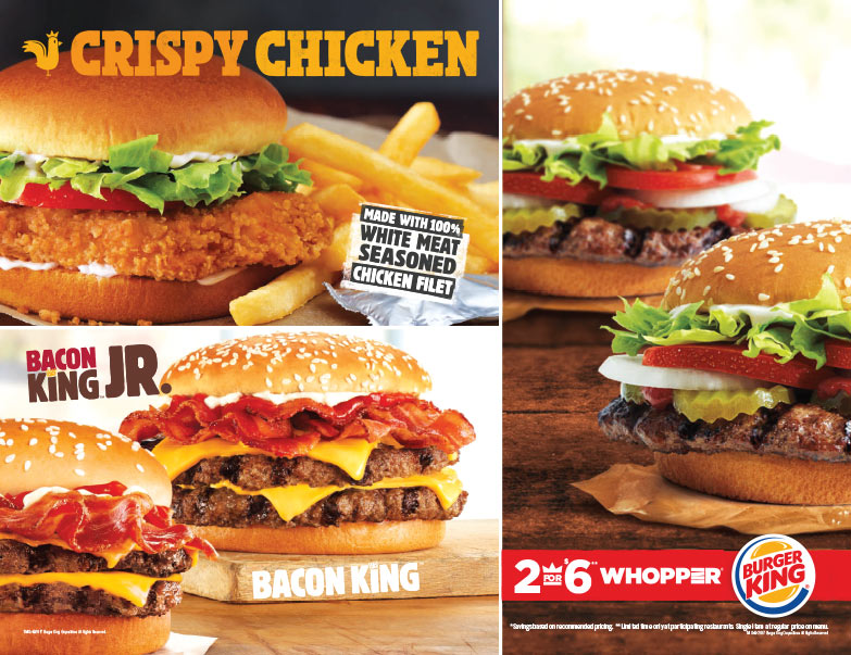 Burger King We-Prints Plus newspaper insert brought to you by Any Door Marketing
