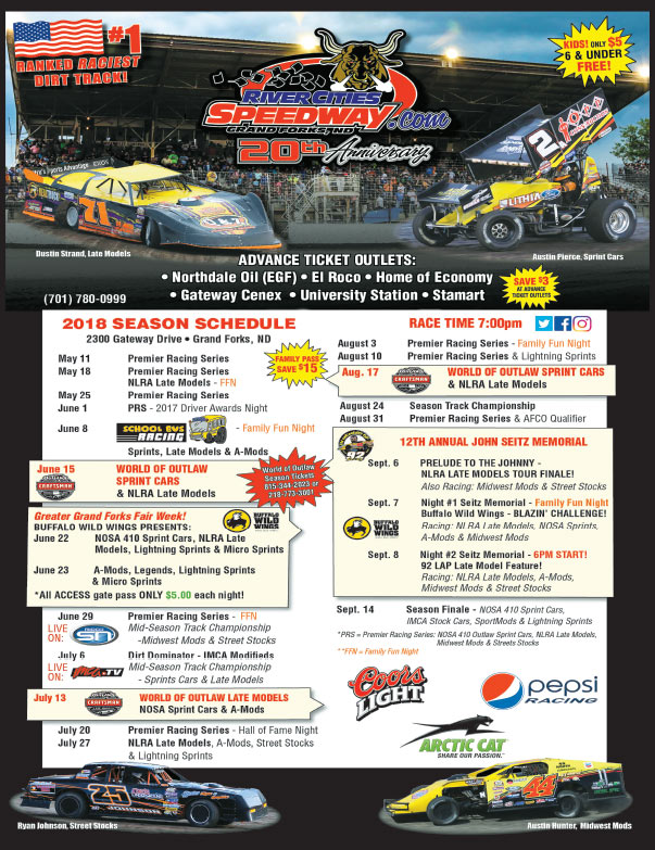 River Cities Speedway We-Prints Plus Newspaper Insert brought to you by Any Door Marketing