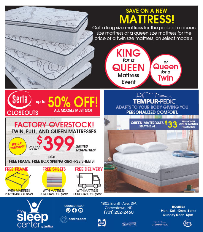 Sleep Center by Conlin's We-Prints Plus Newspaper Insert brought to you by Any Door Marketing