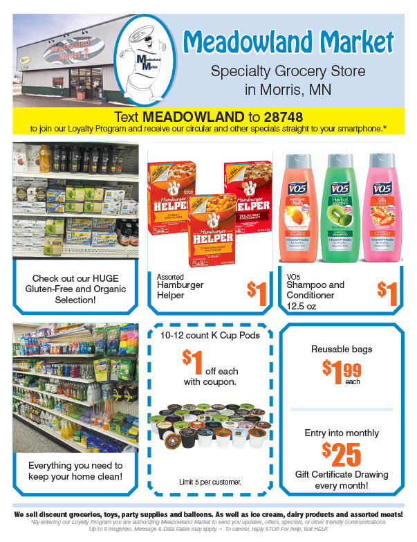 Meadowland Market We-Prints Plus Newspaper Insert brought to you by Any Door Marketing
