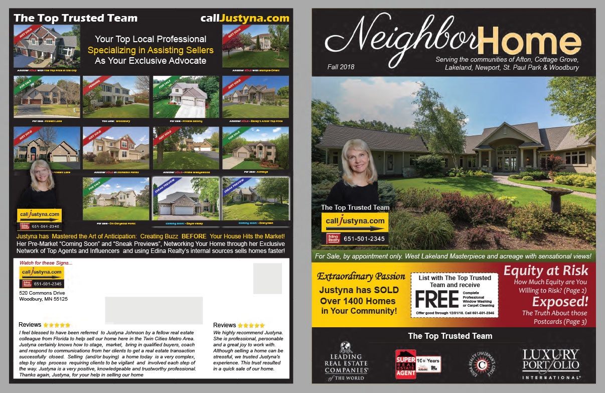 Edina Realty Neighbor Home We-Prints Plus Newspaper Insert brought to you by Any Door Marketing