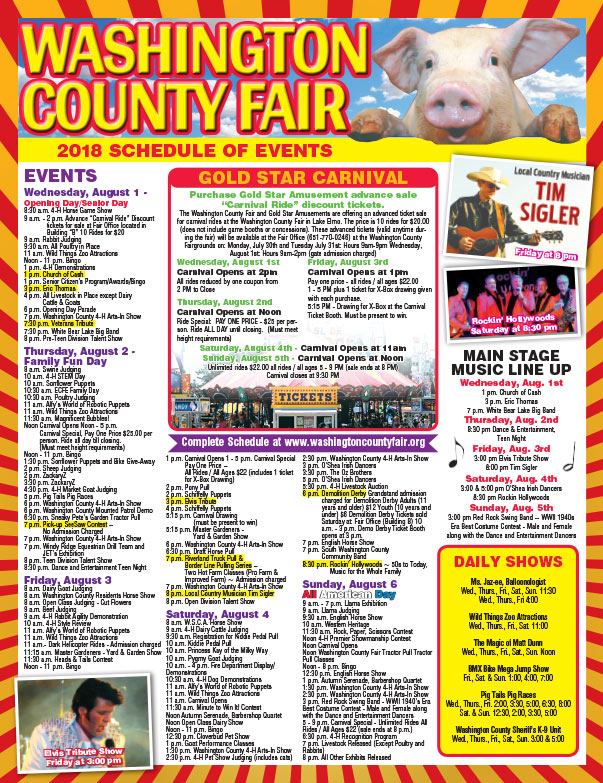 Washington County Fair We-Prints Plus Newspaper Insert brought to you by Any Door Marketing