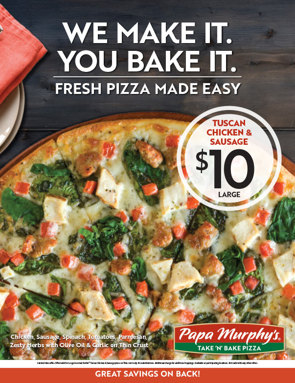Papa Murphy's Pizza We-Prints Plus Newspaper Insert brought to you by Any Door Marketing