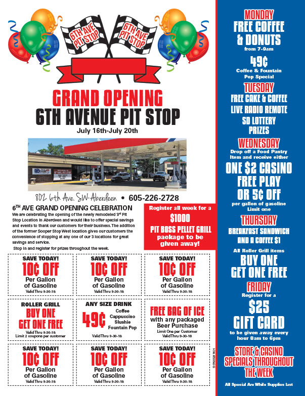 6th Ave Pitstop We-Prints Plus Newspaper Insert brought to you by Any Door Marketing