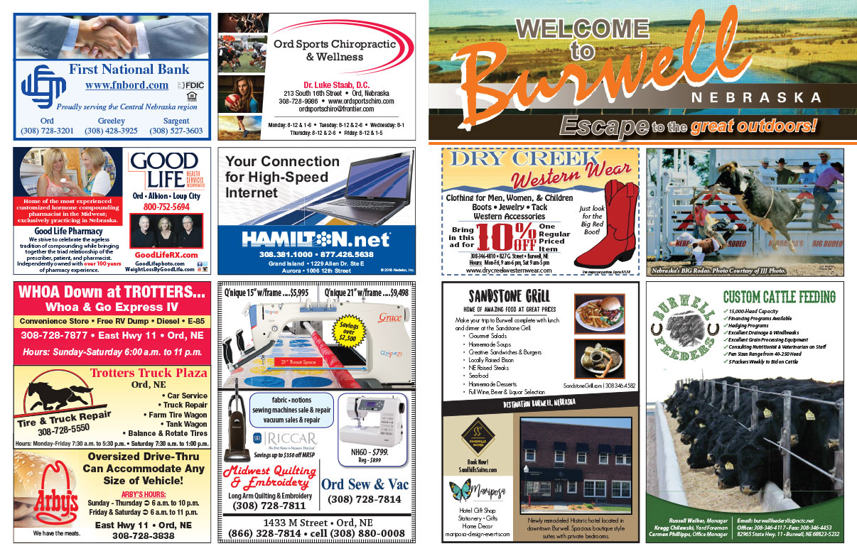 Burwell NE We-Prints Plus Newspaper Insert brought to you by Any Door Marketing
