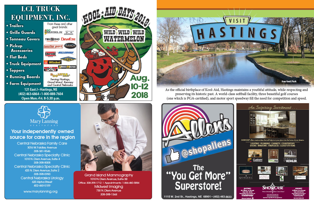 Visit Hastings NE We-Prints Plus Newspaper Insert brought to you by Any Door Marketing