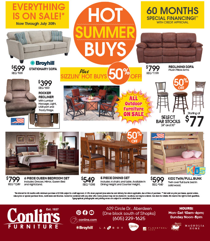 Conlin's Furniture We-Prints Plus Newspaper Insert brought to you by Any Door Marketing