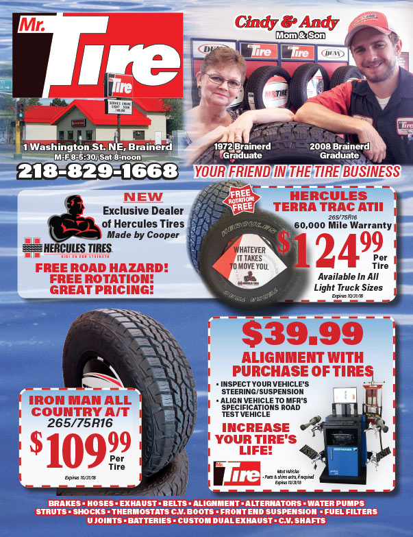 Mr Tire We-Prints Plus Newspaper Insert brought to you by Any Door Marketing