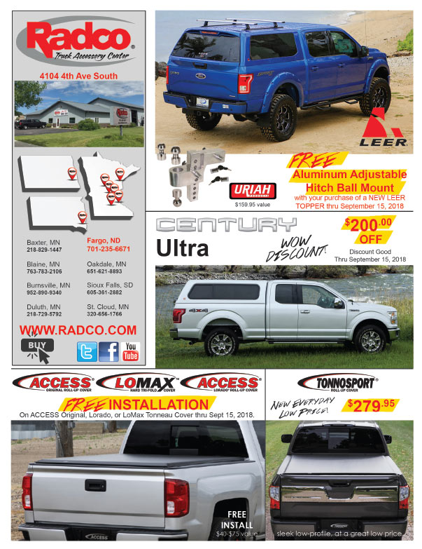 Radco Truck Accessory Center We-Prints Plus Newspaper Insert brought to you by Any Door Marketing