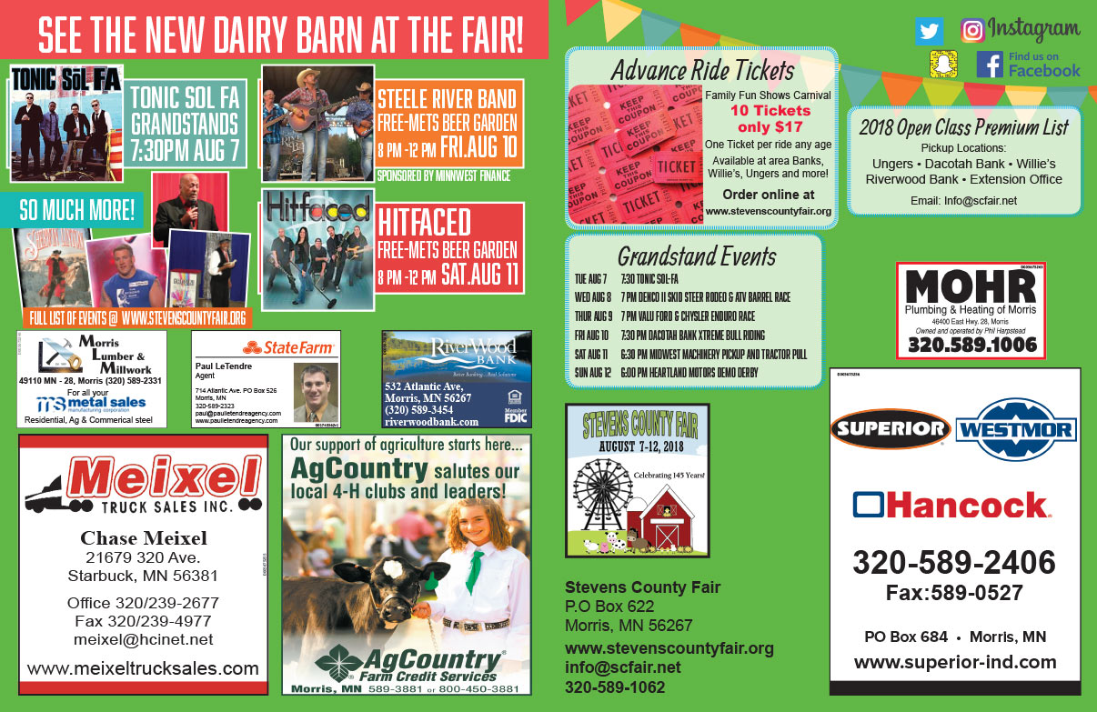 Stevens County Fair We-Prints Plus Newspaper Insert brought to you by Any Door Marketing