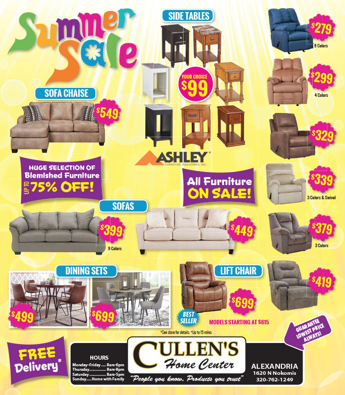 Cullen's Home Center We-Prints Plus Newspaper Insert brought to you by Any Door Marketing
