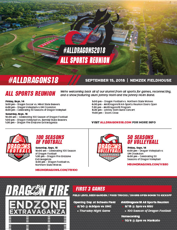 MSUM Dragon Football We-Prints Plus Newspaper Insert brought to you by Any Door Marketing