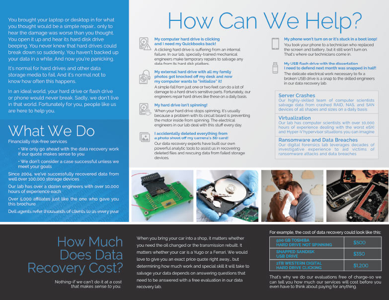 Gillware Data Recovery We-Prints Plus Newspaper Insert brought to you by Any Door Marketing