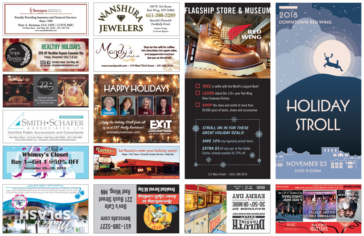 Red Wing MN Holiday Stroll We-Prints Plus Newspaper Insert printed by Any Door Marketing