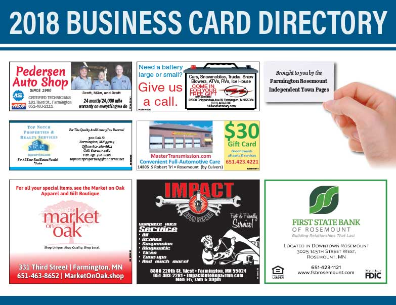 Farmington Business Card Directory We-Prints Plus Newspaper Insert Printed by Any Door Marketing