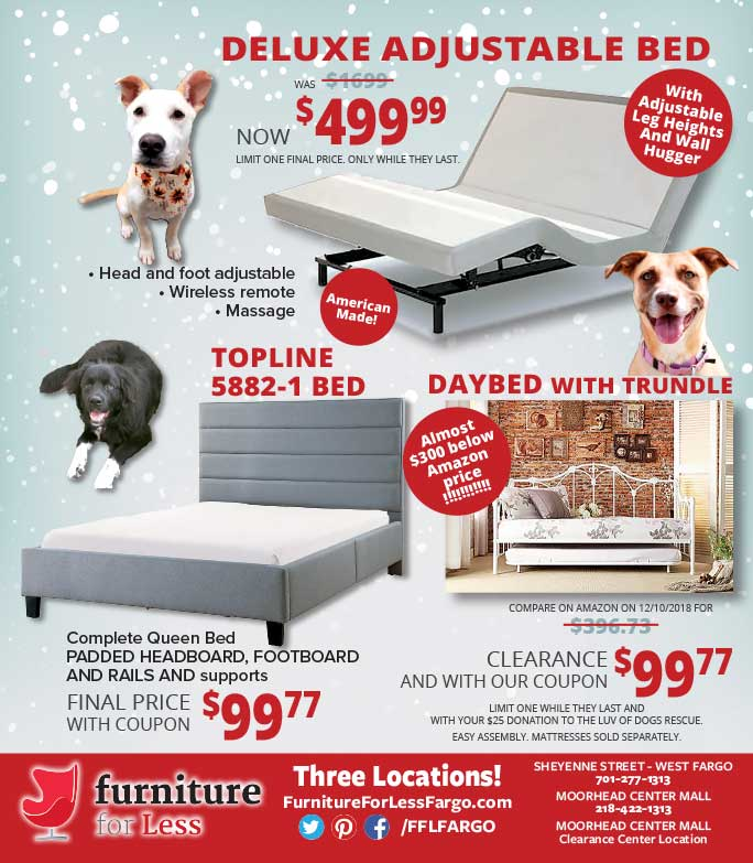 Furniture for Less We-Prints Plus Newspaper Insert printed by Any Door Marketing