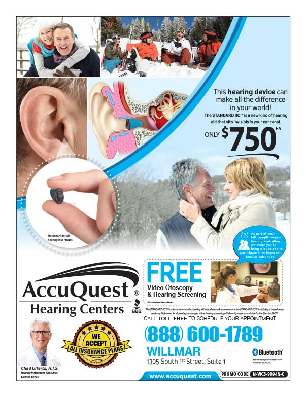 AccuQuest Hearing We-Prints Plus Newspaper Insert printed by Any Door Marketing
