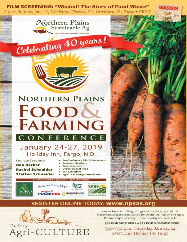 Northern Plains Food and Farming Conference We-Prints Plus Newspaper Insert printed by Any Door Marketing