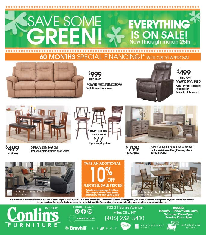 Conlin's Furniture We-Prints plus Newspaper Insert printed by Forum Communications Printing