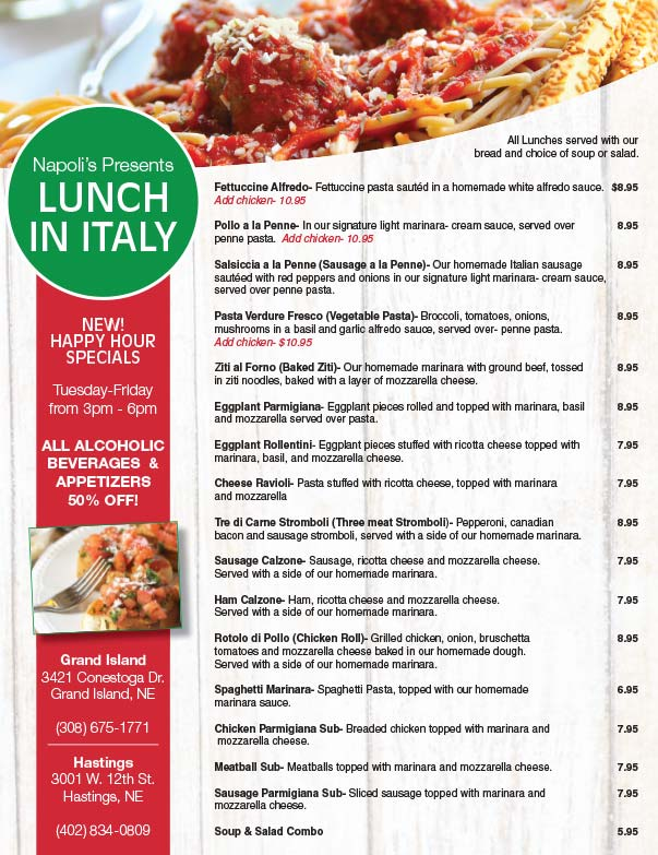 Napoli's We-Prints plus Newspaper Insert printed by Forum Communications Printing